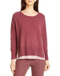 Seventy Wool Blend Sweater - Purple