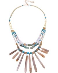 Nakamol - Stone & Shell Collar Necklace - Lyst