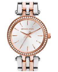 Michael Kors | Michael Kors 'Darci' Crystal Bezel Bracelet Watch | Lyst