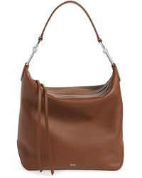 BOSS by Hugo Boss Small Kirsten Leather Hobo - Brown