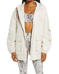Alo Yoga Legion Reversible Hooded Jacket - White