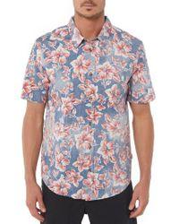 Jack O'neill - Luau Regular Fit Short Sleeve Sport Shirt - Lyst