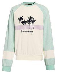 PUMA - Puma By Rihanna Palm Graphic Terry Cloth Sweater - Lyst