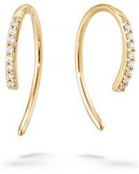 Lana Jewelry - Hooked On Diamond Hoop Earrings - Lyst