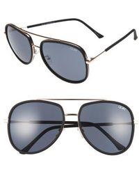 Quay - 'needing Fame' 65mm Aviator Sunglasses - Lyst