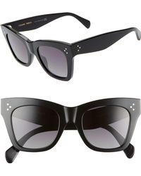 5d48900aef5e Lyst - Céline 54mm Square Sunglasses -