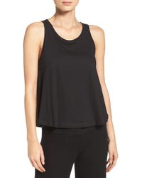 Naked - Mesh Inset Jersey Tank - Lyst