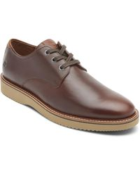 Dunham Clyde Plain Toe Derby - Brown