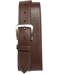 Shinola - Double Stitch Leather Belt - Lyst