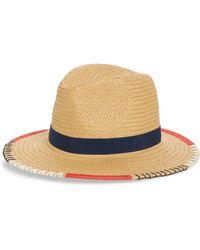 Treasure & Bond Embroidered Straw Panama Hat