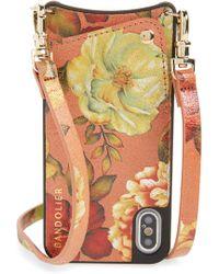 Bandolier - Emma Iphone X/xs Leather Crossbody Case - Lyst