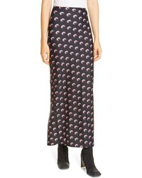 Marine Serre Moon Print Jersey Midi Tube Skirt - Black