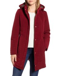 Gallery - Hooded Quilted Jacket - Lyst