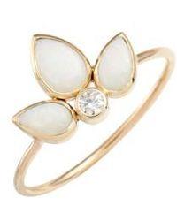 Zoe Chicco | Diamond Bezel Ring | Lyst