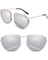 SUNNYSIDE LA - 67mm Mirrored Sunglasses - - Lyst