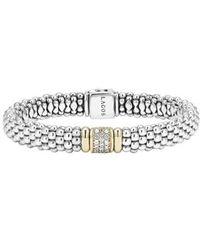 Lagos | Caviar & Diamond Bracelet | Lyst