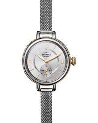 Shinola Birdy Mesh - Bracelet Watch - Metallic