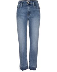 FRAME Le High Release Hem Straight Leg Ankle Jeans - Blue