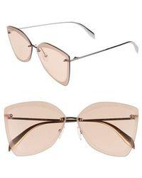 Alexander McQueen - 64mm Oversize Rimless Sunglasses - - Lyst