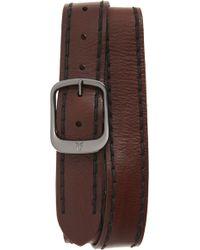 Frye - Stitched Edge Leather Belt - Lyst