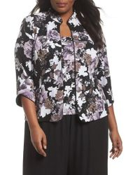 Alex Evenings - Floral Mandarin Collar Twinset - Lyst