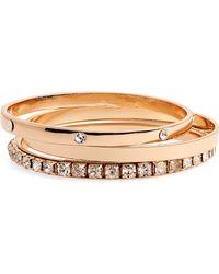 BP. Set Of 3 Bangle Bracelets - Metallic