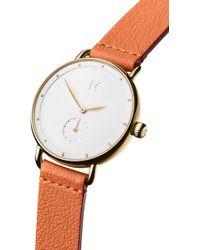 MVMT - Bloom Leather Strap Watch - Lyst