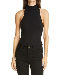 FRAME Luxe Halter Sweater - Black