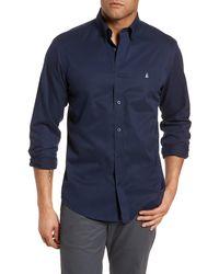 Nordstrom Smartcaretm Traditional Fit Twill Boat Shirt - Blue