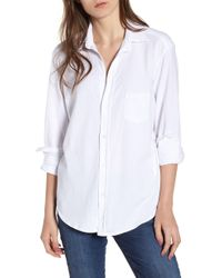 1553bc9af2 Frank   Eileen - Eileen Jersey Button Front Shirt - Lyst