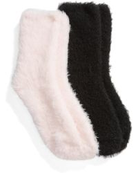 Make + Model - Fuzzy 2-pack Crew Socks - Lyst