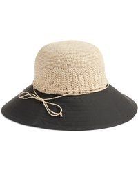 8f1f16ebfe95 Helen Kaminski Embossed Fedora Hat - Lyst