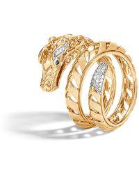 John Hardy - Legends Naga 18k Gold & Diamond Dragon Ring - Lyst