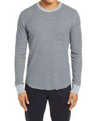 Vince Stripe Crewneck Sweater - Gray