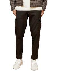 TOPMAN Skinny Twill Cargo Pants - Black
