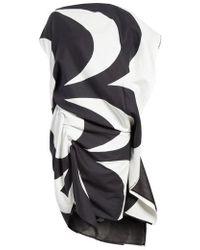 Junya Watanabe - Circular Print Asymmetrical Draped Dress - Lyst