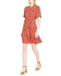 Whistles - Peony Print Pleat Dress - Lyst