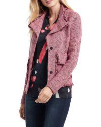 NIC+ZOE Favorite Fringe Sweater Jacket - Pink