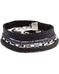 Title Of Work Wrap Bracelet - Black