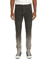 Purple Dropped Fit Jeans - Black