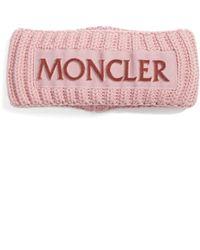 Moncler Rib Knit Headband - Black