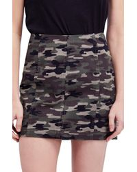 Free People - We The Free By Modern Femme Camo Skirt - Lyst