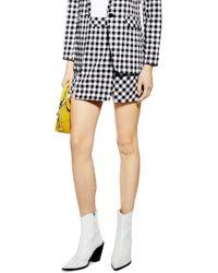 TOPSHOP - Gingham Miniskirt - Lyst