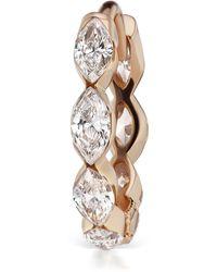 Maria Tash Single 6.5mm Rose Gold Marquise Diamond Eternity Earring - Metallic
