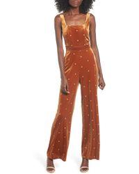 4si3nna - Star Velvet Jumpsuit - Lyst