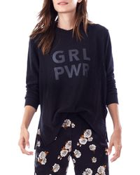 Loyal Hana Grl Pwr Maternity Sweatshirt - Blue
