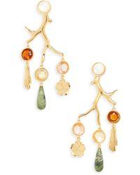 Lizzie Fortunato Relic Chandelier Earrings - Metallic