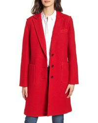 J.Crew - Olga Boiled Wool Topcoat - Lyst