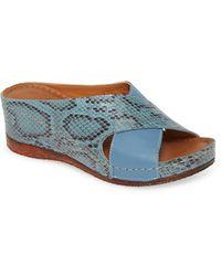 Sheridan Mia Kokos Wedge Slide Sandal - Blue