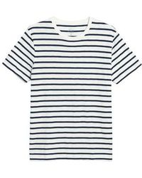 J.Crew | J.crew Deck Stripe Slub Cotton T-shirt | Lyst